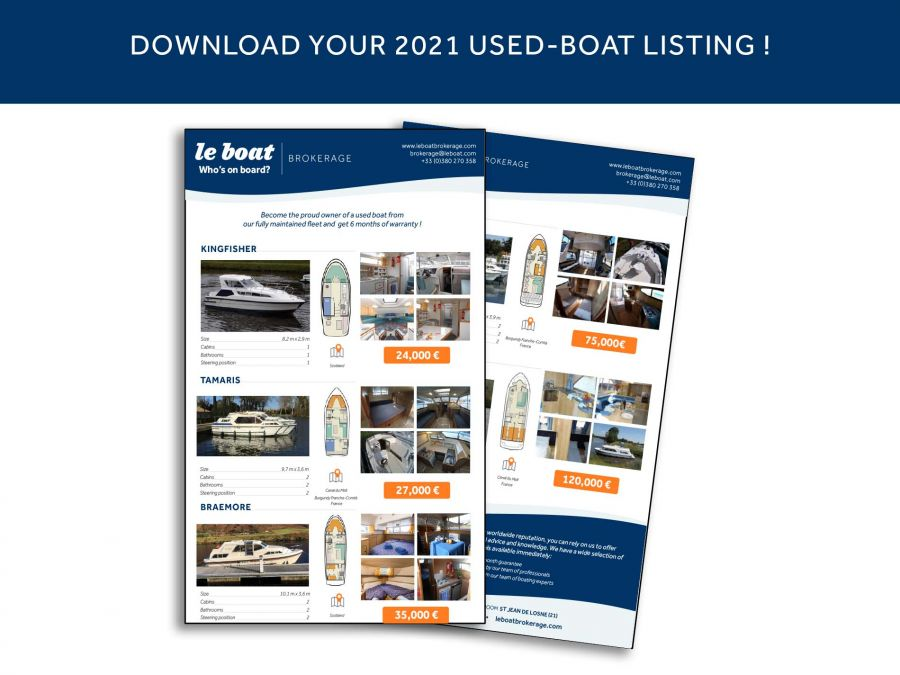 Discover the new Le Boat 2021 Brokerage boats available today!