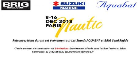 Nautic - Salon Nautique de Paris du 08/12 au 16/12 2018 Paris Expo Portes de Versailles