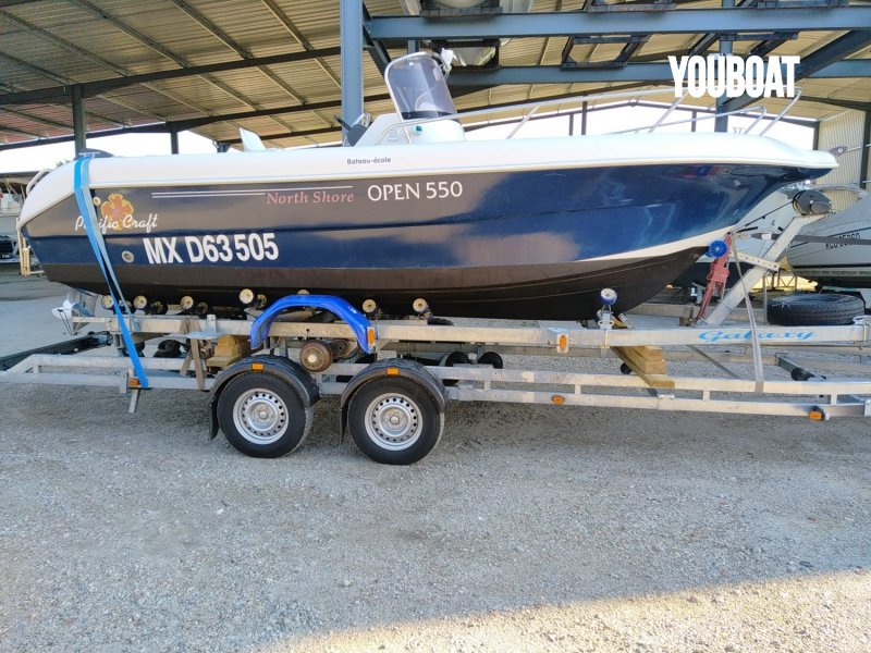 Pacific Craft 550 Open North Shore - 100ch F100 EFI - Direction hydraulique LS Yamaha (Ess.) - 5.55m - 2008 - 16.900 €
