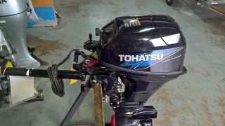 Tohatsu electric start 20hp short shaft 4 stroke, only £1550, vgc